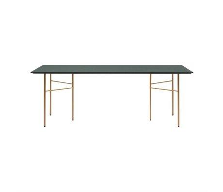 Ferm Living Tafelblad Mingle groen hout linoleum 90x160x2cm