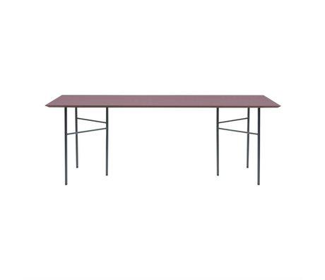Ferm Living bourgogne Mingle linoléum bois Tabletop rouge 90x160x2cm