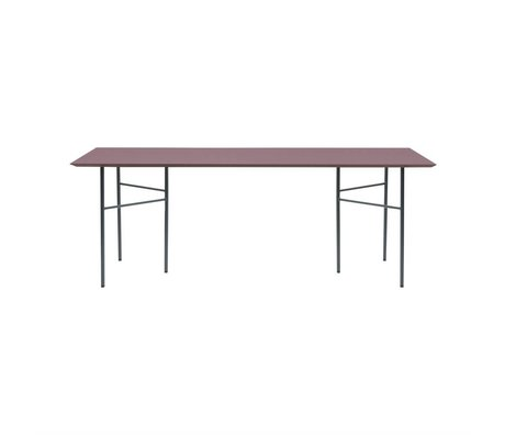 Ferm Living Table top Mingle bordeau red wood linoleum 90x160x2cm