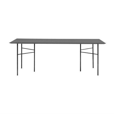 Ferm Living Mêlez bois linoléum noir table 90x160x2cm