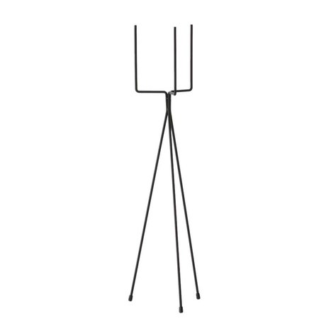 Ferm Living Standard Plant Stand Large metal with black powder coating plants Ø15x65cm