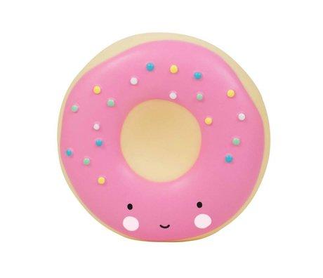 A Little Lovely Company Spaarpot Donut roze kunststof 14x6x14,5cm