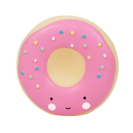 A Little Lovely Company Donut pink plastic piggy bank 14x6x14,5cm