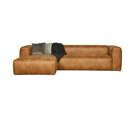 LEF collections Canapés d'angle Bean en cuir brun cognac gauche 305x73x96 / 175cm