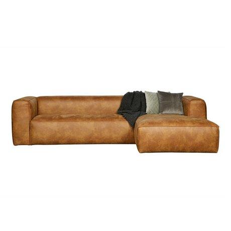 LEF collections Canapés d'angle Bean en cuir brun cognac droit 305x73x96 / 175cm