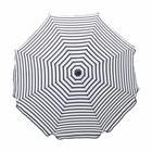 Housedoctor Parasol Oktogon acier plastique noir et blanc ø180x184cm
