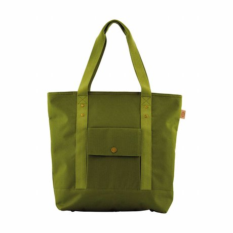 Housedoctor Sac isotherme Shopper polyester vert, l'aluminium, 36x13x42cm