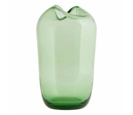 Housedoctor Wave green glass vase ø15x23cm