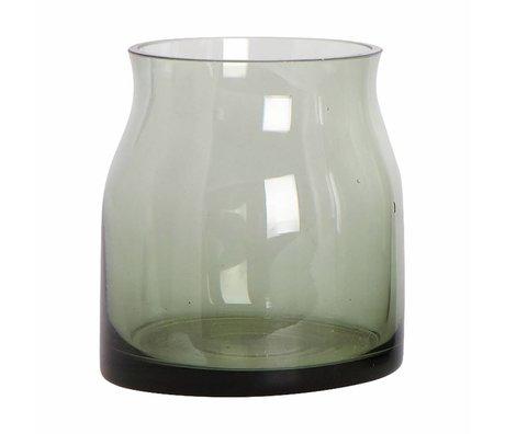 Housedoctor Rubinglas-Vase grün ø8x9cm
