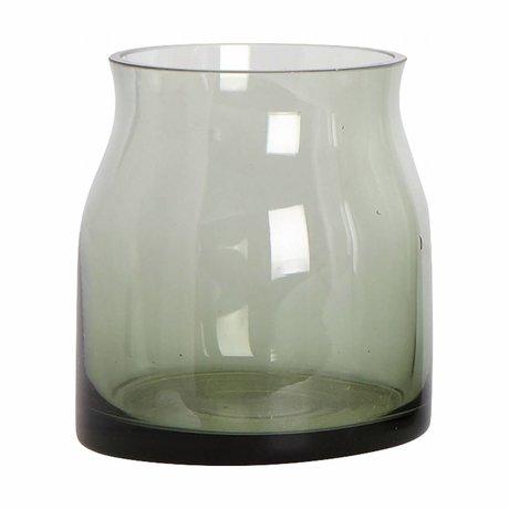Housedoctor vase en verre rubis ø8x9cm vert