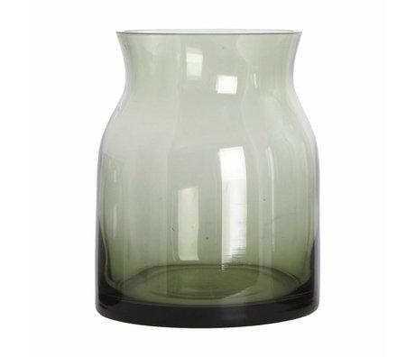 Housedoctor Ruby glass vase green ø13x16cm