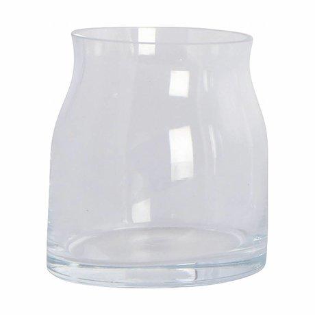 Housedoctor Vaas Ruby transparant glas ø8x9cm