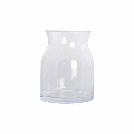 Housedoctor Vaas Ruby transparant glas ø13x16cm