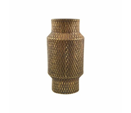 Housedoctor Messingguss Vase Gold Aluminium ø8x16cm