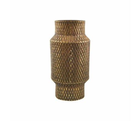 Housedoctor or vase en laiton en fonte d'aluminium ø8x16cm