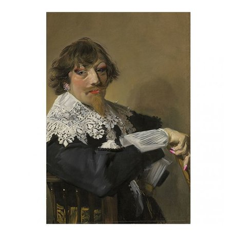 Arty Shock Painting Frans Hals - Portrait of a man L multicolor plexiglass 100x150cm