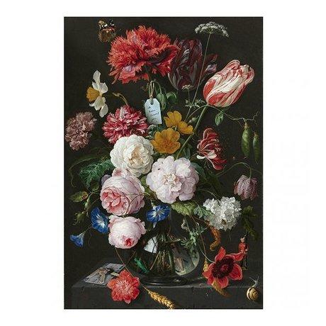 Arty Shock Peinture Jan Davidsz de Heem - Nature morte avec des fleurs dans un vase en verre multicolore M Plexiglas 80x120cm