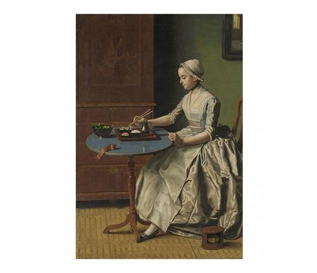 Arty Shock Painting Jean-Etienne Liotard - Dutch girl having breakfast M multicolor plexiglass 80x120cm