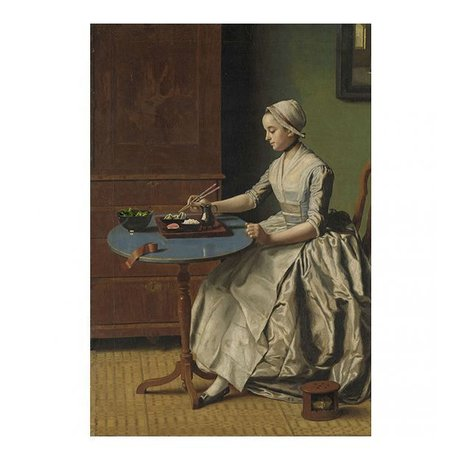 Arty Shock Painting Jean-Etienne Liotard - Dutch girl having breakfast L multicolor plexiglass 100x150cm