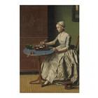 Arty Shock Peinture Jean-Etienne Liotard - Hollandaise petit déjeuner XL multicolore Plexiglas 150x225cm