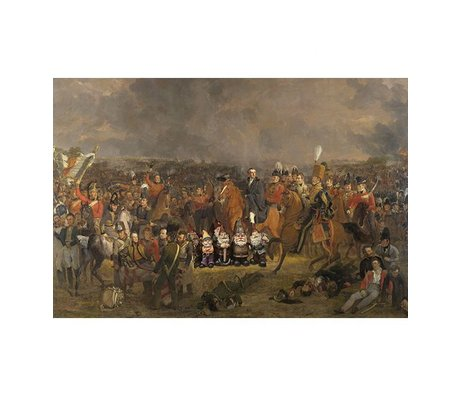 Arty Shock Painting Pieneman - The Battle of Waterloo M multicolor plexiglass 80x120cm