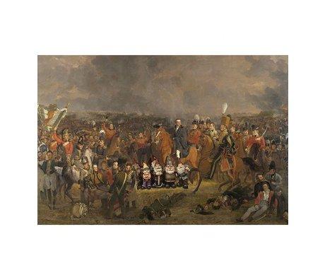 Arty Shock Peinture Pieneman - La bataille de Waterloo M multicolore Plexiglas 80x120cm