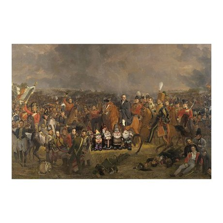 Arty Shock Painting Pieneman - The Battle of Waterloo L multicolor plexiglass 100x150cm