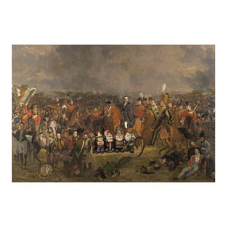 Arty Shock Painting Pieneman - The Battle of Waterloo XL multicolor plexiglass 150x225cm