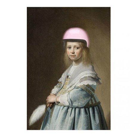 Arty Shock Verspronck Malerei - Porträt eines Mädchens in blau L Mehrfarben Plexiglas 100x150cm