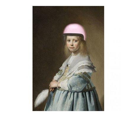 Arty Shock Verspronck Malerei - Porträt eines Mädchens in blau XL mehrfarbige Plexiglas 150x225cm