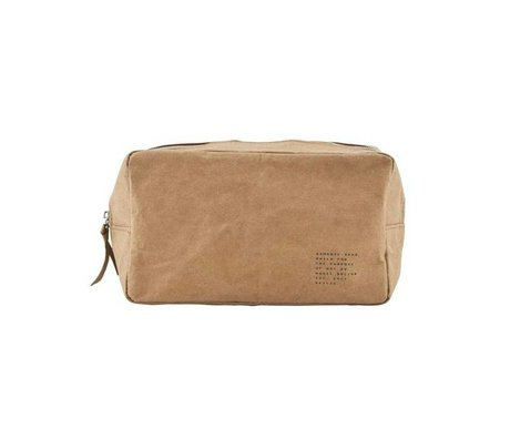 Housedoctor Toiletry Nomadic kraft brown 24x10x14xcm