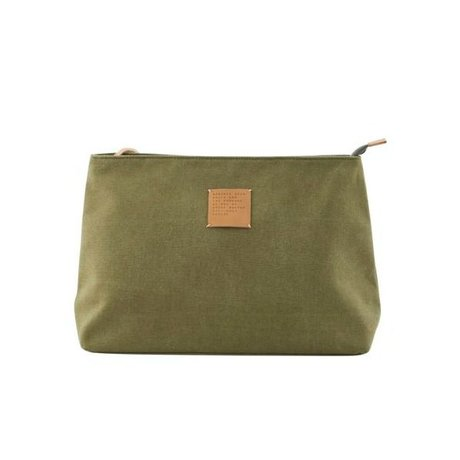 Housedoctor Toiletry militairy Dark green, nylon green 32x12x24cm
