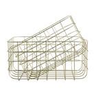 Housedoctor Draadmandjes Simply goud ijzer set van twee 20x28x16cm/24x32x16cm