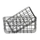 Housedoctor Paniers en fil de fer jeu simplement noir de deux 20x28x16cm / 24x32x16cm