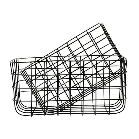 Housedoctor Wire baskets Simply black iron set of two 20x28x16cm / 24x32x16cm