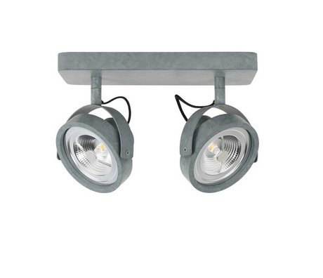 Zuiver Wandleuchte LED DICE 2 Stahlgrau 28x12cm