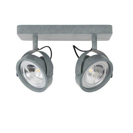Zuiver Lampe LED mur DICE 2 28x12cm gris acier