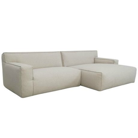 FÉST Bank 'Clay' beige Sydney22 1.5-seater and longchair left or right