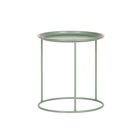 LEF collections Occasional table de jade Ivar métal vert M 43,5x40cm