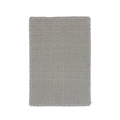 LEF collections Bowery gray wool carpet woven in 2 sizes