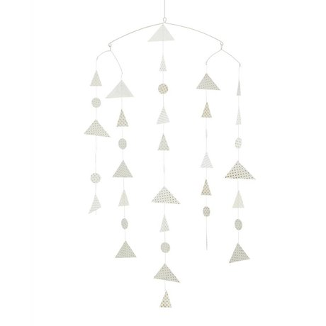 Madam Stoltz Mobile Triangle white paper 27x20x100cm