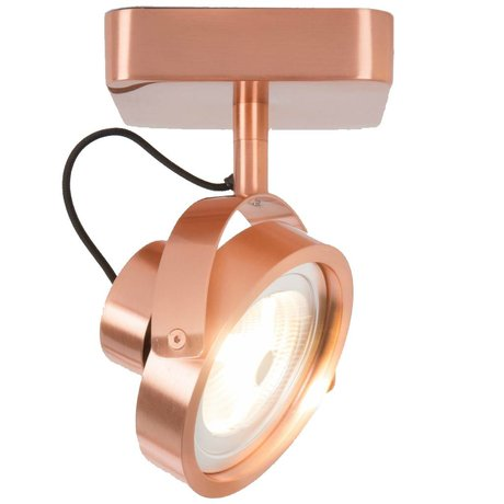 Zuiver Wall lamp DICE 1 LED steel copper 12x12cm