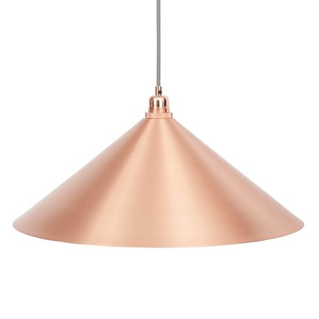Frama Cone hanging lamp copper metal with E27 L Ø52cm