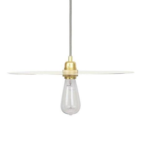 Frama Circle hanging lamp brass metal with gold glass E27 L Ø40cm