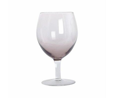 Housedoctor Wijnglas Ball paars glas h:17 cm set van 4 stuks