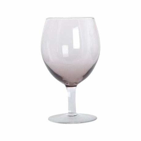 Housedoctor Verre à vin boule violet verre h: 17 cm ensemble de 4 pièces