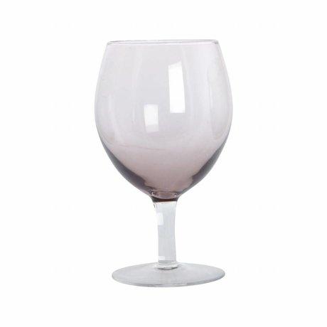 Housedoctor Weinglas Ball lila Glas h: 17 cm Satz von 4 Stück