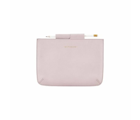 Housedoctor Cover Ipad Mini pink leather / cotton 24x17cm