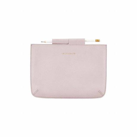 Housedoctor Cover Mini Ipad roze leer/katoen 24x17cm