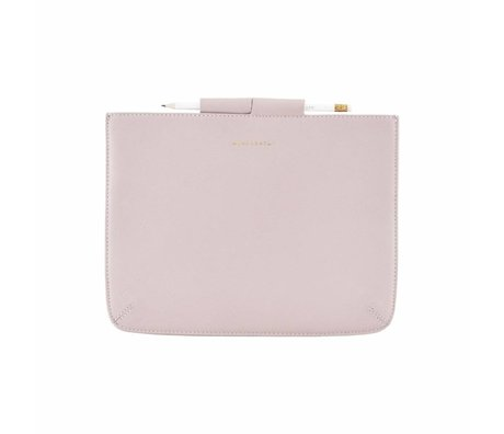 Housedoctor Cover Case pink leather / cotton 29x22cm